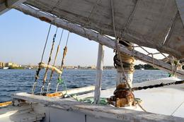 On the felucca in Aswan , Susan H - May 2014