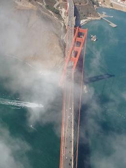 flying over golden gate bridge, Lorn P - September 2010