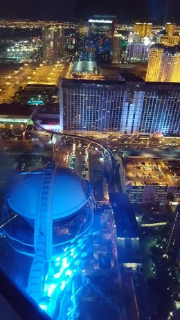 this is from inside the pod. You can see another pod and the view of the strip in this picture. , MaryAnn R - August 2016