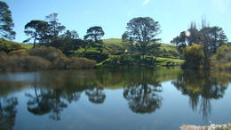 Picture of Hobbiton in morning from Green Dragon , Patrick J B - July 2013