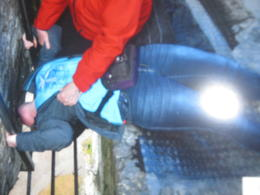 13 year old dares to kiss the Blarney Stone , Jill A - August 2012