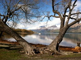 Standing by the Glenorchy outbuilding looking toward Queenstown , Carol Ann K - December 2014