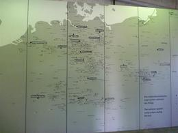 Map showing the huge number of concentration camps across Europe during the Holocaust, Dachau , Gavin W - December 2013