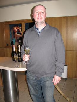 Having a little Champagne after our tour of the Moet & Chandon Champagne House. - September 2009