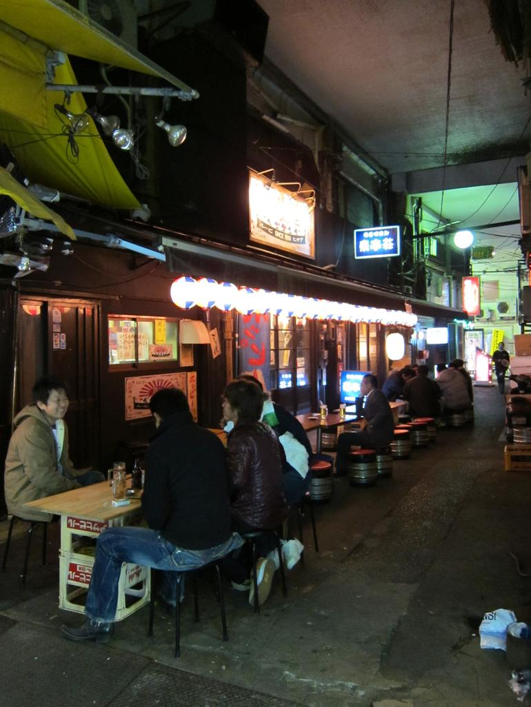 Old fashioned Ueno food stall - Tokyo