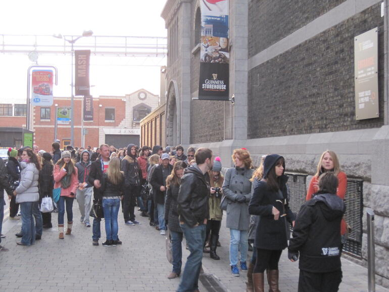 People in Line for Guinness Storehouse - Dublin