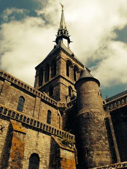 Saint Michel Abbey tower , Egija B - May 2015