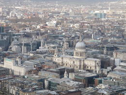 View from the Shard on the St.Paul Cathedral , Pavol K - January 2014
