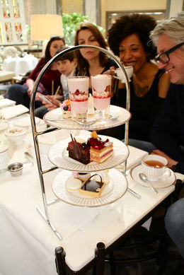 Tickled pink by the tray of desserts, Viator Insider - March 2016