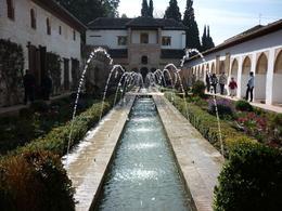 Fountain at the Generalife Gardens. - April 2010