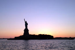 Statue of Liberty at sunset, Jules & Brock - July 2012