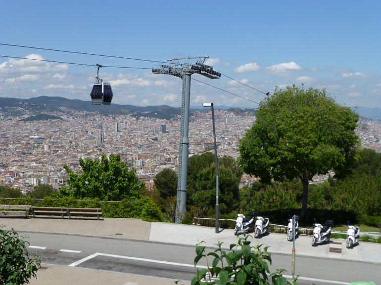 Our stop on Montjuic - Barcelona