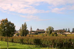 Saint Emilion viewed from Chateau Soutard winery on our tour , Hilary N - October 2013