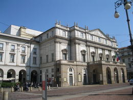 The outside of La Scala Opera House. The tour includes a visit inside the theater and the museum. , Krupin Trips - July 2013