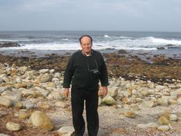 Me, standing on the rocky shore, at the Cape of Good Hope., Hava L - July 2008