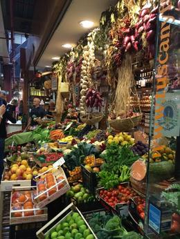 Exploring the market, shopping for our cooking class, with our wonderful guide, Mara. , Carol R - October 2014