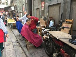 Street Barbers in Guangzhou. , anilveeraraj - February 2017