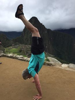 Tom doing a handstand at Machu Picchu , Tom C - June 2017