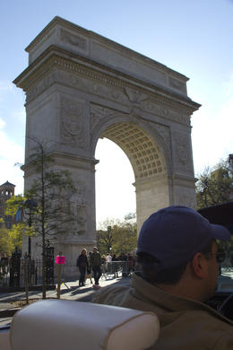 Driving past Washington Square Park , alanh - April 2012