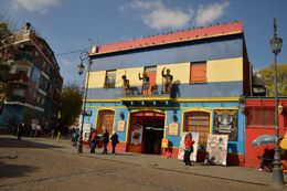 One of the colourful houses in La Boca , Neala S - May 2016