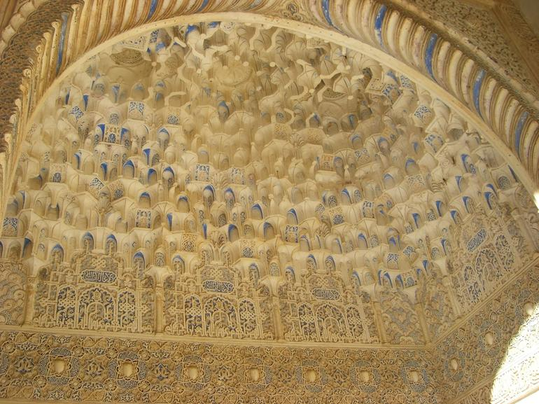 Ceiling inside Alhambra palace - Seville