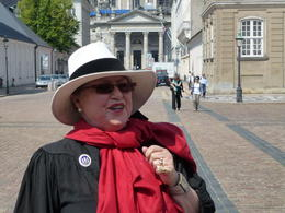 This is our tour guide. Notice how sharp she is dressed. , Gerald H - June 2011