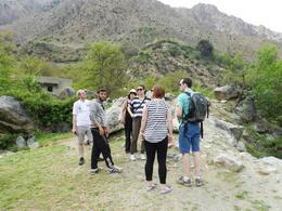 Rest of our tour group and guide heading to the Waterfall. , RICHARD W - April 2014