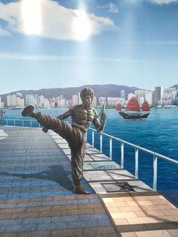 Bruce Lee at the harbor, Bing - March 2015