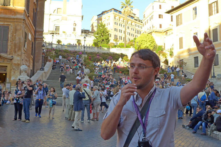 Our tour guide - Rome