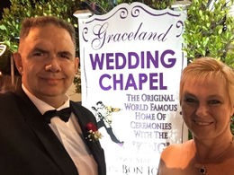 We got married at the Graceland Wedding Chapel! , SS B - June 2015