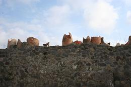 Pottery on a wall., Juan C - March 2009