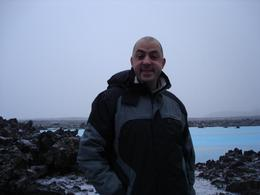 Trev outside the Blue Lagoon., Margaret S - December 2007