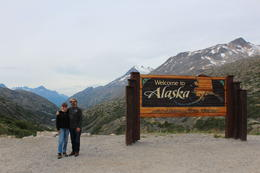 Walt and Colleen, entry to Alaska from Yukon Territory , Walt M - August 2017