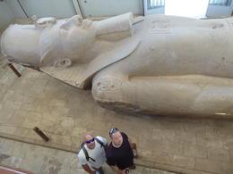 Jeff and Joel standing by Ramses the Great in Memphis , Joel L - November 2017