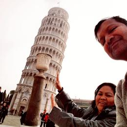 Holding the Leaning tower of Pisa! , Rashid F - November 2017