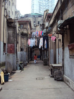 Residents would hang clothes on clotheslines to dry - May 2012
