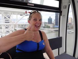 Nicole on the Big Wheel at Southbank. , Helen S - January 2013