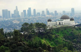 The Griffith Observatory and the downtown skyline - May 2013