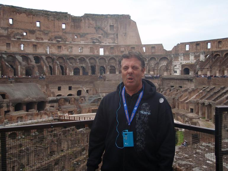 Inside the Colosseum on this tour - Rome