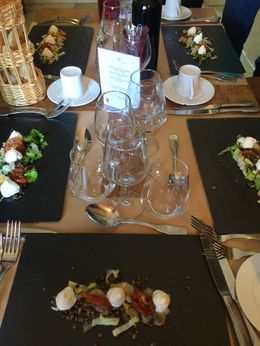 To our surprise there was a three course gourmet meal waiting for us with a wonderful bottle of wine. , Scott R - June 2015