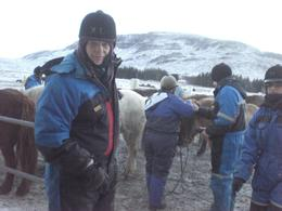 At the stable, they fitted us out with sub zero suits, hats and gloves and introduced us to our trusty steeds., Philip M - January 2010