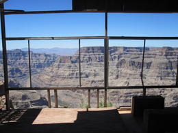A photo of the Canyon from inside an old metal hut up at Guano Point. , Matthew I - May 2011