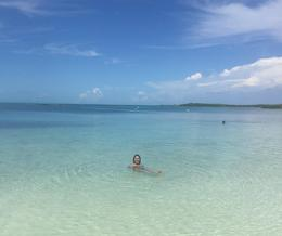 Enjoying crystal-clear waters, aletrece - October 2016