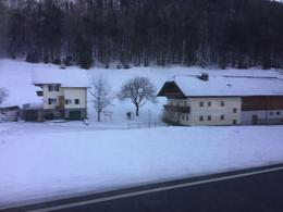 View from our bus on the way to Salzburg. , Alice - January 2017