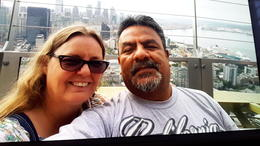 Patty n Carlos Space Needle , Patty A - August 2017