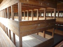 Each of these bunk beds were designed to sleep 200 ppl, but 1000 actually slept in each, Dachau , Gavin W - December 2013
