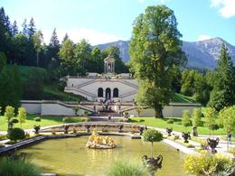 Sunny summer morning at Linderhof-fountain ready to erupt. , Shauna W - September 2012