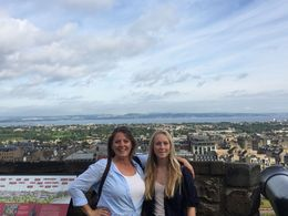 Mom and daughter taking in the view of Edinburgh from the castle. , Kay W - August 2015
