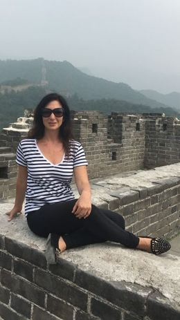 Sitting on top of one of the Great Wall meeting places for commerce back in the day. , Nomi P - July 2016