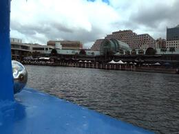 The boat docking back on the harbor. - February 2012